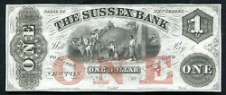 1800and039s 1 The Sussex Bank Newton Nj Obsolete Remainder Gem Unc