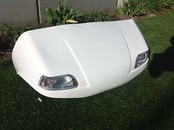 White Club Car Ds Front Body Cowl W Lights Golf Cart Many Colors To Choose From