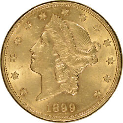 Us Gold 20 Liberty Head Double Eagle - Almost Uncirculated - Random Date
