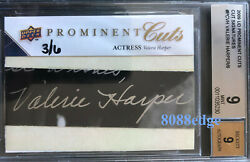 2009 Prominent Cuts Auto Valerie Harper 3/6 Autograph Mary Tyler Moore Bgs 9