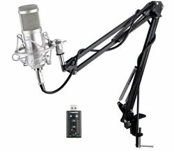 Professional Microphone Condenser For Computer Audio Studio Vocal Recording Mic