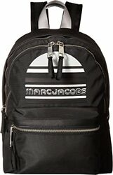 Marc Jacobs Women's Trek Pack Exaggerated Sport Logo Large Backpack Black One Si