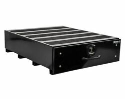 Buyers Products 1718355 9x48x40 Black Smooth Aluminum Slide Out Truck Bed Box