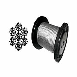 Cable Railing Type 304 Stainless Steel Wire Rope Cable, 1/4, 7x19, Coil And Reel