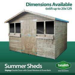 Pressure Treated Summer Shed Garden Summer House Quality Wooden Timber