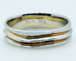 Christian Bauer Style 273106 Platinum+18k Yellow Gold Gentand039s Ring Sample Sale