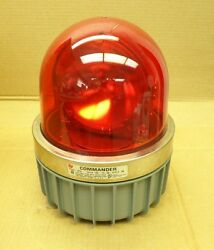 Federal Signal Corp. 371l-120r Commander Series A5 Red Rotating Light