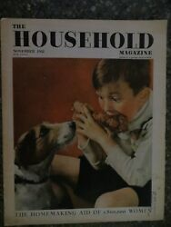 The Household Magazine November 1938 Boy Teasing Puppy Cover Vintage Ads