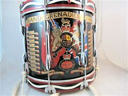 Queen's Grenadier Guards Drum, By Premier, Hand Painted,  C 1960's