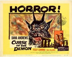 Curse Of The Demon 8 Lobby Card Set 1957 Cards 5-8 Are Nm 2-4 Are Vf+ 11 X 14