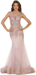 STUNNING PROM EVENING GOWN PAGEANT SPECIAL OCCASION RED CARPET FORMAL GALA DRESS $194.99