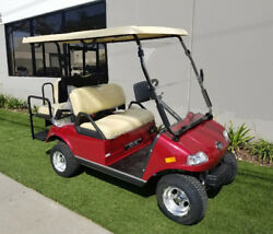 2019 Burgundy LSV Evolution Golf Cart Car Classic 4 Passenger 48v Street Legal