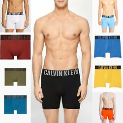 CALVIN KLEIN Men#x27;s classic intense power COTTON boxer brief ORG BLK WHT BLUE GRN $24.99