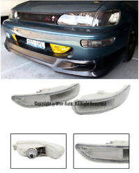 For 93-97 Toyota Corolla E100 Front Bumper Clear Lens Signal Light Lamp Pair
