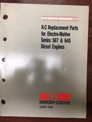 Korody-colyer Series 567 And 645 Diesel Parts Catalog