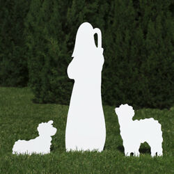 Outdoor Nativity Store Outdoor Nativity Set Add-on - Shepherd And Sheep White