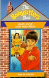 Mary Anne And Miss Priss Babysitters Club By Martin, Ann M. Paperback Book The