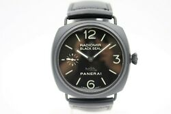 PANERAI RADIOMIR PAM 292 BLACK SEAL CERAMIC WATCH TORPEDO  PIG DIAL BOX