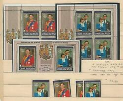 Cook Islands Postage Stamp 659-60a B97-98a Sheets Mint Nh1981 Diana