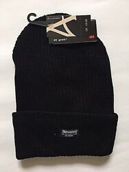 Mens Plain Thinsulate Beanie Hat Thermal Turn _up Hat Winter Fleece Lined 0925c