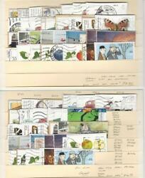 Germany Modern on Paper Lot Semi Postals 2 Stock Cards Nice Selection