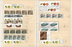Germany Modern on Paper Lot Semi Postals 5 Pages Multiples Plus Others