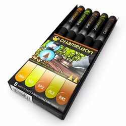 Chameleon Blendable Color Tones - Alcohol-Based Art Marker Pens - Earth Tones