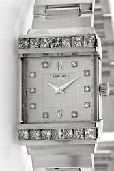 $18,000 CONCORD 4ct VS H Diamond 18k White Gold Mens Ladies 18k Gold Watch 101g