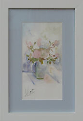 original fine art watercolor framed Persian unique painting ready-to-hang