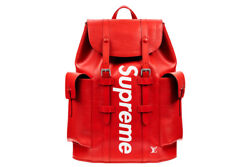 BRAND NEW - SUPREME - LOUIS VUITTON - CHRISTOPHER - BACKPACK - RED