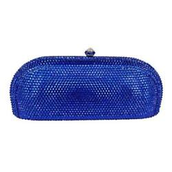Women Champagne Full Crystal Evening Clutch Bag