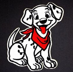 Dalmatian Dog With Red Scarf Embroidered Patch H3.6 Inches Xw 3inchesdrwb-28