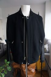 Mens Authentic Shipley And Halmos Wool And Leather Jacket Size Xl