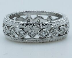 Platinum Vintage Style Eternity Ring 0.25ct Diamonds 1-only At Finger Size 5.75