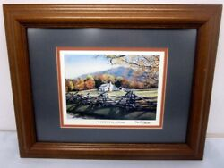 Painting Watercolor Cades Cove Autumn By Terry Waters