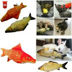 Realistic Interactive Fish Cat Kicker Funny Crazy Toy Catnip Pet Toys Gift
