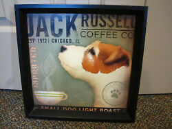 Jack Russell Coffee Co framed print Fowler