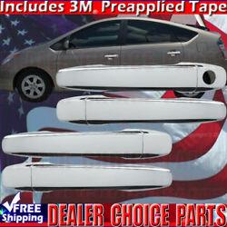 For 2010-2015 Toyota Prius 12-17 Prius V Chrome Door Handle Covers No Smart Kh