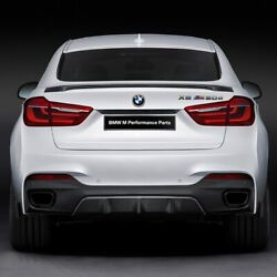 Fit Bmw X6 X6m F16 M-style Real Carbon Fiber Rear Trunk Duck Spoiler Lid Wing
