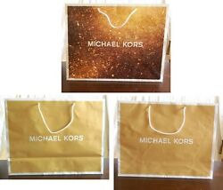 Paper Shopping Bag Michael Kors Lot of 3 Large 19