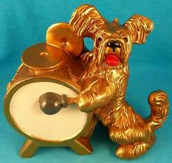 Skye terrier dog drum K&O USA OLD antique vintage metal FREE SHIPPING