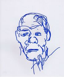 Andy Serkis Signed Caesar Sketch War For The Planet Of The Apes Artwork Coa Bas