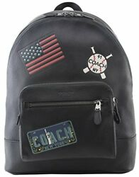 COACH West Large Backpack Dreaming Patches Men's Leather Bag