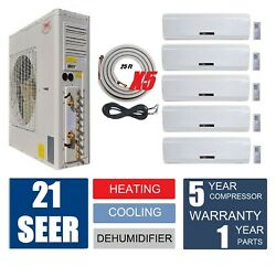 YMGI 51000BTU Five Zone DUCTLESS SPLIT AIR CONDITIONER WITH HEAT PUMP Split Sys