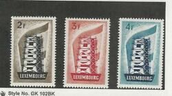 Luxembourg, Postage Stamp, 318-320 Mint Hinged, 1956 Europa