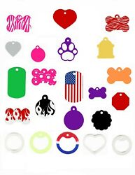 Custom Engraved Personalized Dog Cat Pet ID Tags MADE IN THE USA $3.50