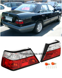 Rear Crystal Clear Brake Lamps Tail Lights For 86-95 Mb W124 E-class 2dr | 4dr