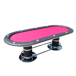 96 Knight 58 Texas Hold'em Poker Table With Cup Holders Red Speed Cloth