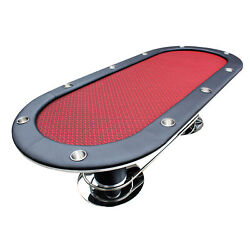 96 Knight 58 Plus Texas Hold'em Poker Table Cup Holders Red Speed Cloth