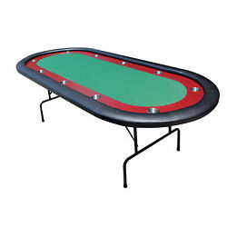 Ids 96 Light Series Poker Table Green Speed Cloth Racetrack With Folding Legs